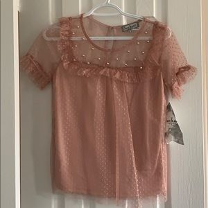 Pink pearl blouse